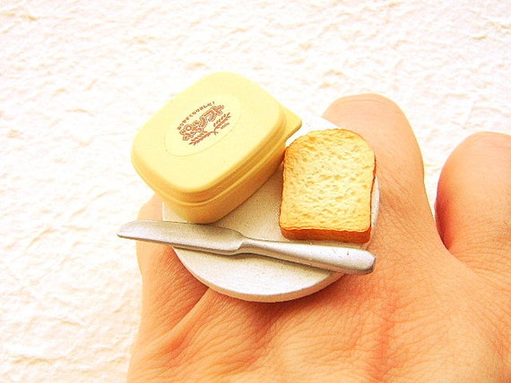 Miniature Food Ring Bread And Butter