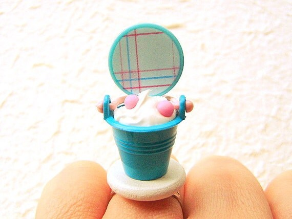 Candy Ice Cream Sundae Ice Cream Miniature Food Ring
