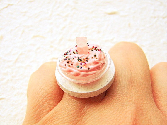 Cute Food Ring Miniature Food Jewelry By Souzoucreations