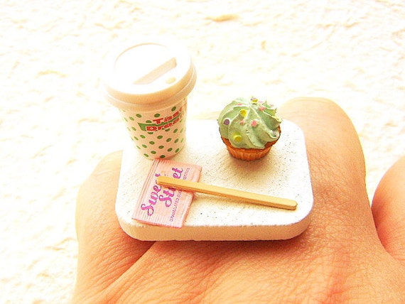 Kawaii Cute Japanese Ring - Coffee And A Cupcake To Go