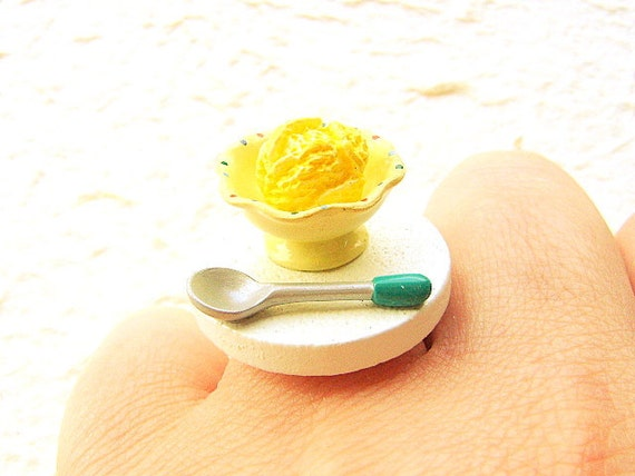Food Ring Ice Cream Miniature Food Jewelry Gifts Under 10