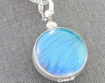 Blue Morpho Wing Jewelry Something Blue Pendant