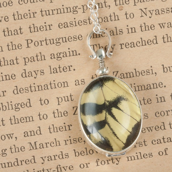 Butterfly Wing Jewelry with Tiger Swallowtail MOTHERS DAY SALE