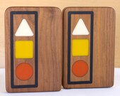 Vintage 70s Signal Bookends