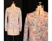 Vintage Seeking Springtime Blouse Large XL