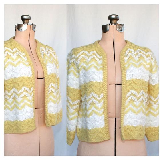 SALE Vintage Sunshine Honey Bolero Sweater Small Medium