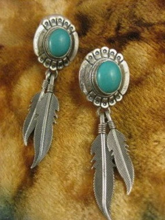 Outstanding Turquoise Sterling Earrings