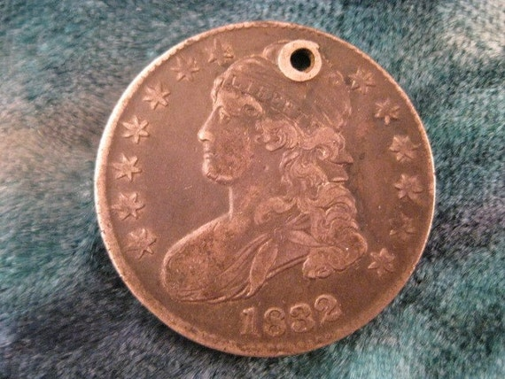Reserved Dan Block1832 Bust Half Dollar with Hole