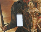 Lord of the Rings Hand Painted Switchplate--Aragorn--Original Oil Painting