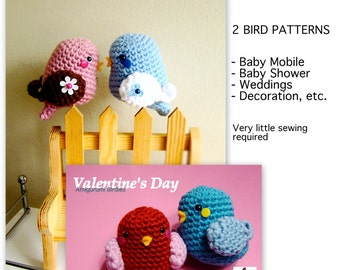 Amigurumi Valentine Bird and Birdie - PDF pattern