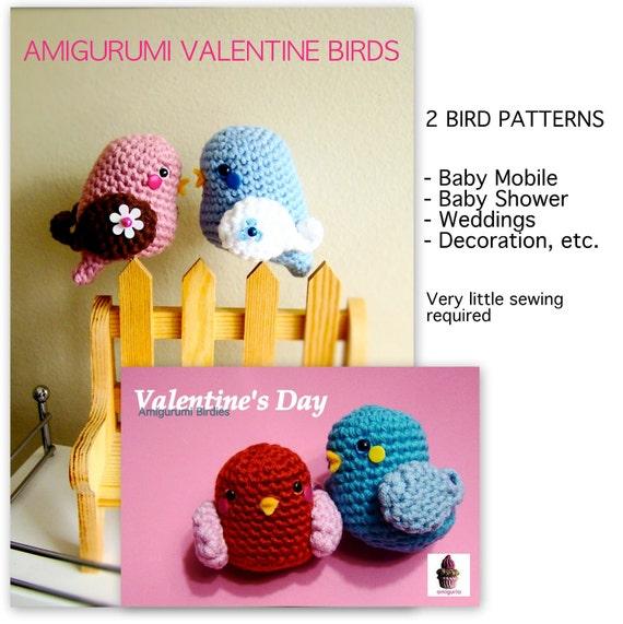 Amigurumi Valentine Bird and Birdie - PDF pattern