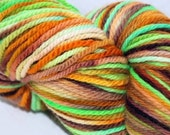 Hand Dyed Sport Weight Yarn It's The Great Pumpkin Charlie Brown