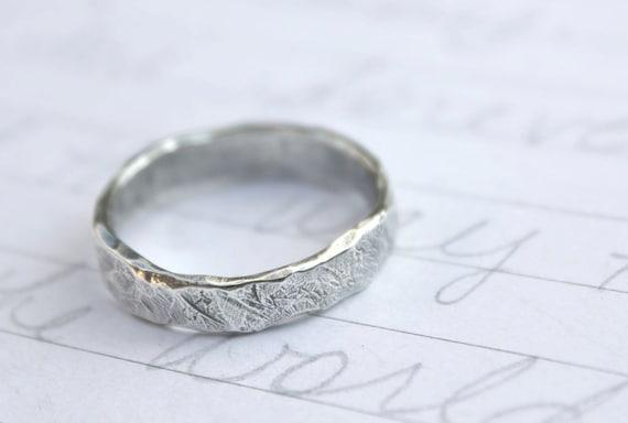 Wedding Ring Inscriptions Wedding Band Ring Custom Rustic Wedding Ring With Inscription