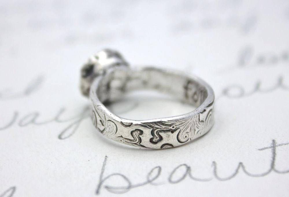 white topaz engagement ring 2 carat topaz vintage style