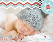 Custom photo christmas / holiday card - Holiday Chevron