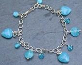 Turquoise Heart Handmade Bracelet