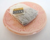 """Colorful Pottery 3"""" Textured People Plate by Centered ClayWorks"""