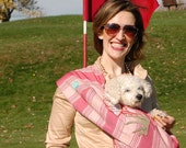 Sassy n Sporty Small Dog Sling Carrier - customized w favorite sport - Size Large