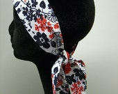 Silk Head Scarf - RED WHITE AND BLUE- SALE FREE SHIPPING TO AUG 15
