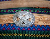 Hand Tooled Belt SALE GENE a Rockabilly Hunka Man or 4 his Curvaceous RockaFilly size 42
