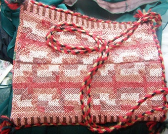 SALE, Boho Bag, Cross body bag, Vegan boho bag, Red woven bag, Boho hippie bag, SALE BAG