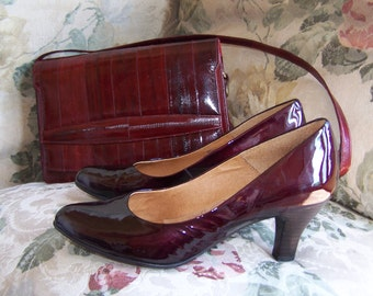 8.5 Shoes, Sofft Pumps, Deep cranberry Pumps, Patent Leather Pumps, There's no place like Home