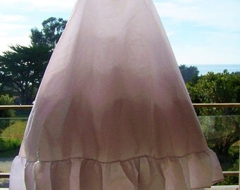 Bridal Crinoline, White wedding slip, Tulle Petticoat, Long crinoline, white petticoat, size s / m