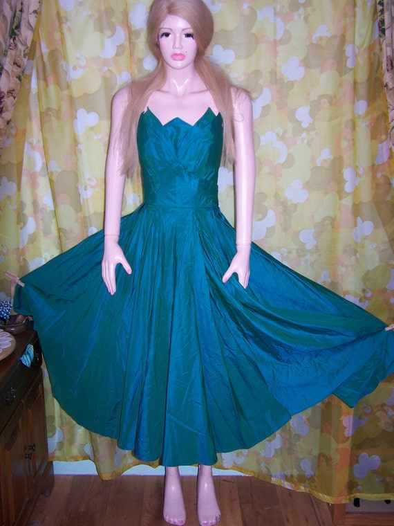 SOLD 2 Jenny 50s PiXiE Gown Jewel tone Dress size M