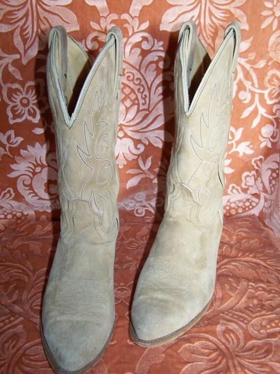 7.5 C Blonde Suede CowBoy Boots Storewide SALE Buy 2 Get 1 FREE