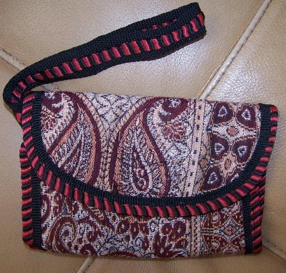 Boho Wallet VEGAN, soft, with hand strap