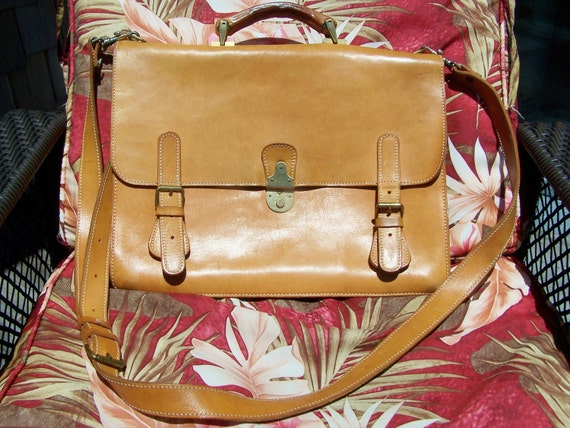 Leather Satchel Messenger Laptop ipad n all that shoulder Cross Body Bag