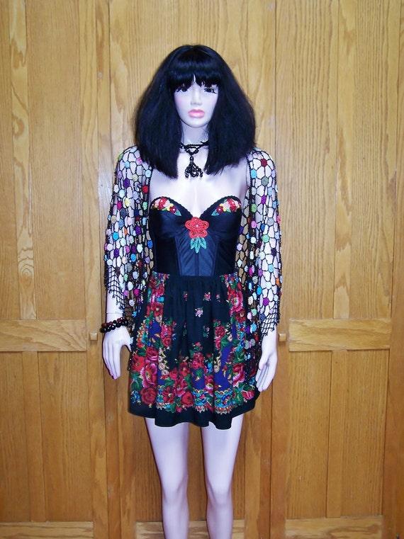 SOLD 2 BREANNA Corset Dress Gypsy Festival size S, 34 B