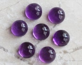 TWO 4mm Purple Round Amethyst Cabochons | 4mm Round Amethyst Cabochon | Purple Amethyst Cabochon