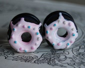 """3/4"""" (20mm) Chocolate Doughnut Plugs for stretched ears.Donuts for your holes."""