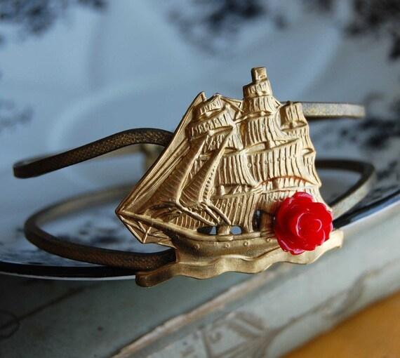 The Voyage -Vintage Brass Cuff Bracelet