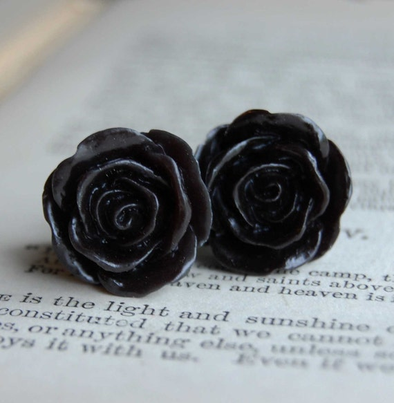 0g (8mm) Black Dahlia Rose Plugs