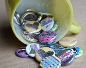 Six Pack of Pinback Button BLING by Seven Ply