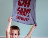 Oh Snap Seven Ply Tee-Grey and Red Size Small