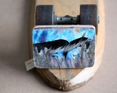 Recycled Skateboard Belt Buckle-Road Rash in Blue