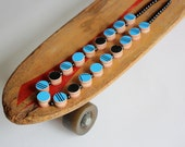 """Recycled Skateboard Necklace-Grand Finale No.22 Skateboard Pearls 20"""""""