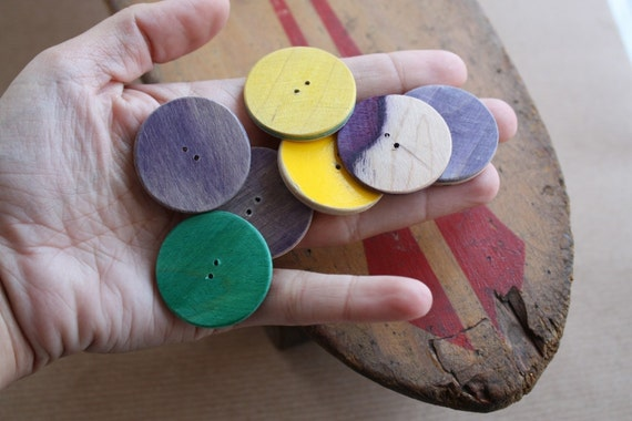 Recycled Skateboard Four Eco Craft Buttons