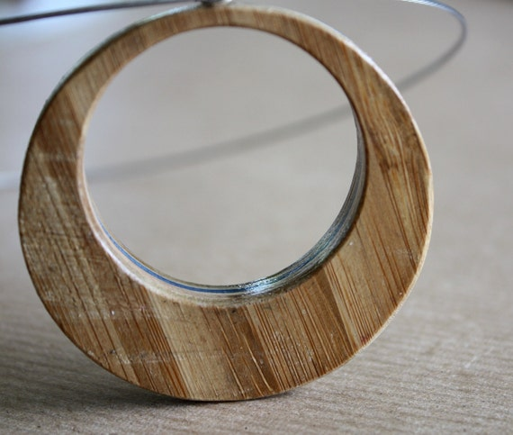Recycled Skateboard Necklace-Urban Bamboo