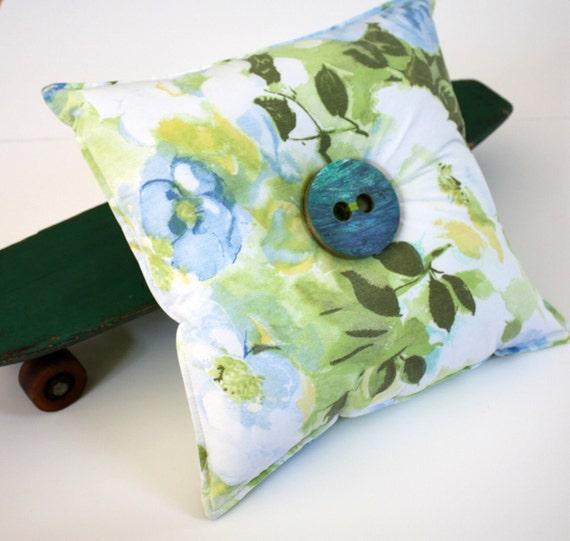 Recycled Skateboard Novelty Button Throw Pillow-Vintage Secret Garden