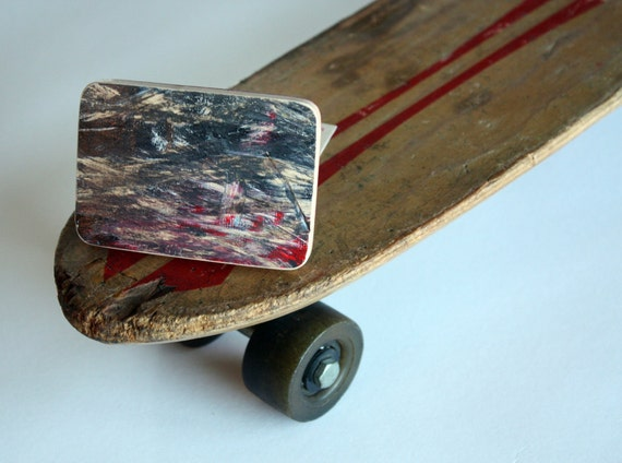 Recycled Skateboard Belt Buckle-Freelance