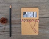 SALE Moleskine Cahier Journal - Untold Stories, Small Altered Kraft Pocket Notebook, 5 Dollar Gift, Stocking Stuffer for the Writer
