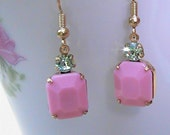 Betty D. Old Hollywood Glam Two Toned Drop Earring.