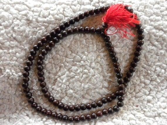 Rosewood beads (genuine) 7 mm - mala