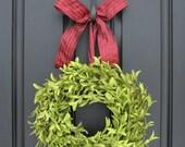 Boxwood Wreaths - Artificial Boxwood - Boxwood Decor - Year Round Outdoor Wreath