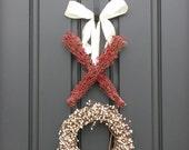 XO Wreath Original - Berry Wreath - Kisses and Hugs - XO - Holiday Wreath - Valentine's Day Decor