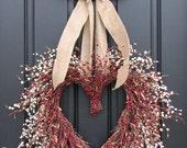 Wedding Wreath - I Adore You - Wedding Decorations - Valentine's Day - Sweetest Day